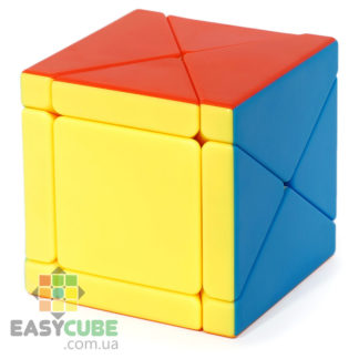 Moyu Fisher Skewb Cube - нестандартный Скьюб с цветным пластиком - easycube.com.ua