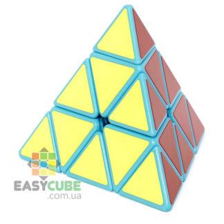 Купить YongJun Guanlong Pyraminx - дешевая пирамидка-головоломка с голубым пластиком в Украине
