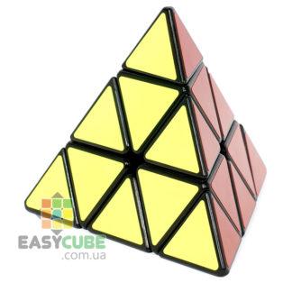 Купить YongJun Jinzita Pyraminx - недорогая пирамида Рубика с черным пластиком в Украине