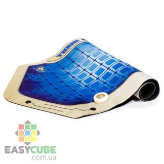 Купить коврик Yuxin (синий цвет) с креплением для таймера для сборки кубиков Рубика (спидкубинг) в Украине
