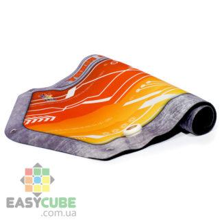 Купить коврик Yuxin (оранжевый цвет) с креплением для таймера для сборки кубиков Рубика (спидкубинг) в Украине