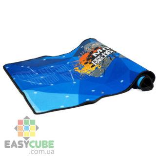 Купить небольшой коврик Moyu (синий цвет) для сборки кубиков Рубика, головоломок (спидкубинг) в Украине