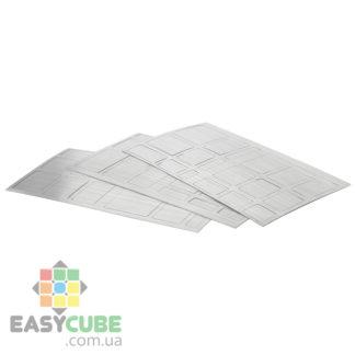 Купить серебристые наклейки для зеркального кубика в Украине по низкой цене