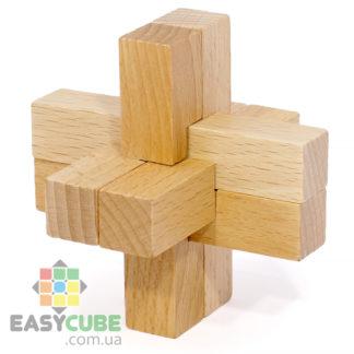 Купить Двойной замок-крестовина (деревянная головоломка) в Украине - Низкие цены и доставка