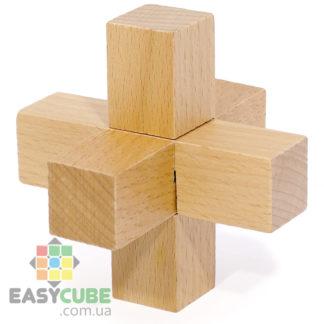 Купить Мини замок-крестовина (деревянная головоломка) в Украине недорого