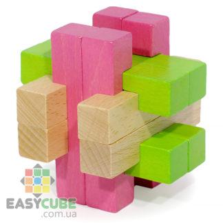 Купить Разноцветный китайский куб (деревянная головоломка) в Украине недорого