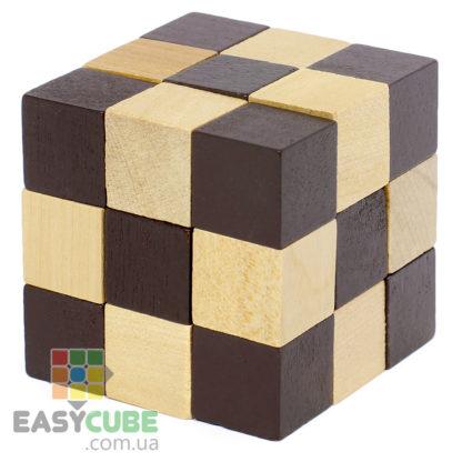 Купить Змейку кубик-Рубика (интересная деревянная головоломка) в Украине по низкой цене