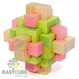 Купить Двухцветный кристалл (деревянная головоломка) в Украине недорого