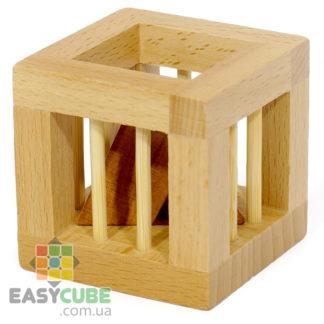 Купить Пирамидку в клетке (интересная деревянная головоломка) в Украине недорого