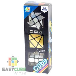 Купить набор головоломок FanXin изменяющих форму с зеркальными наклейками (3 вида) в Украине